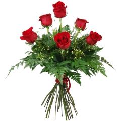 Ramo Pasión 6 rosas