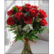 Ramo Pasión de 18 rosas rojas